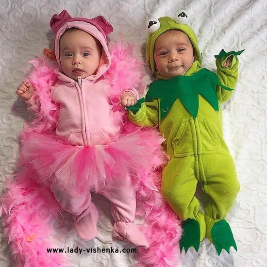 Princesse et la grenouille costumes pour les enfants