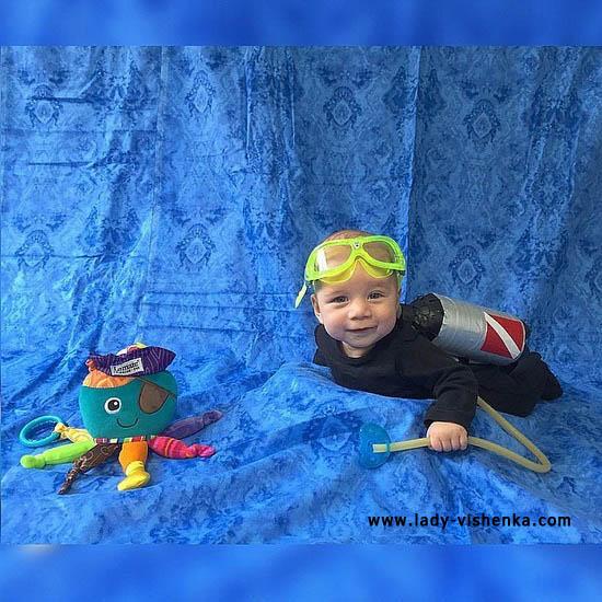 Marine Déguisement de plongeur pour les bebe