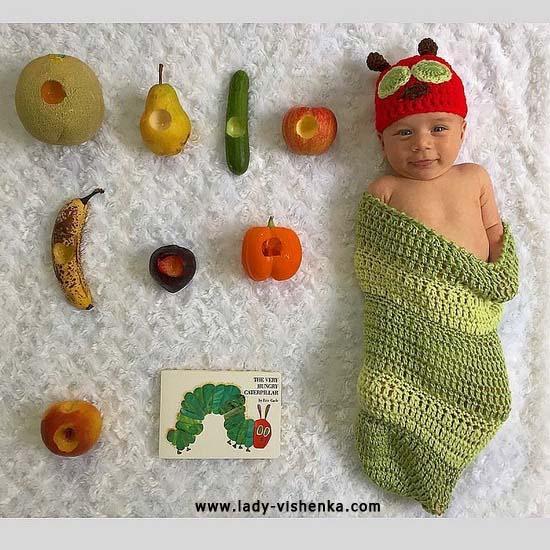 Ver costume pour le bébé