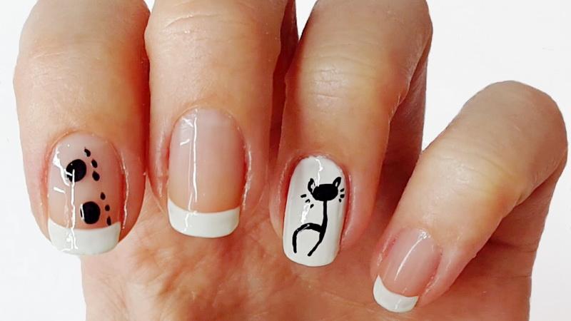 Chat sur les ongles