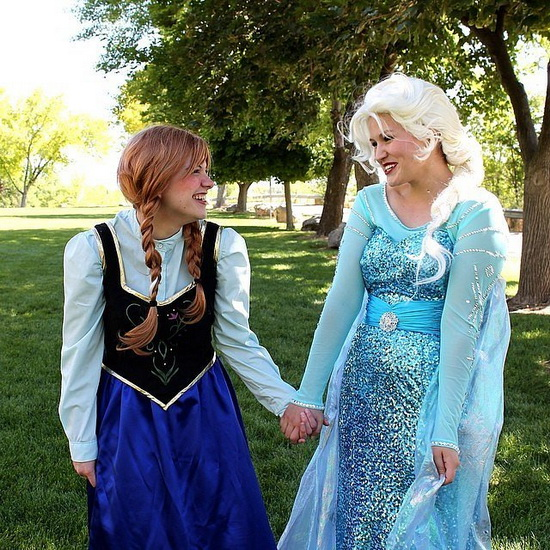 Déguisement pour Halloween pour copines - Anna et Elsa