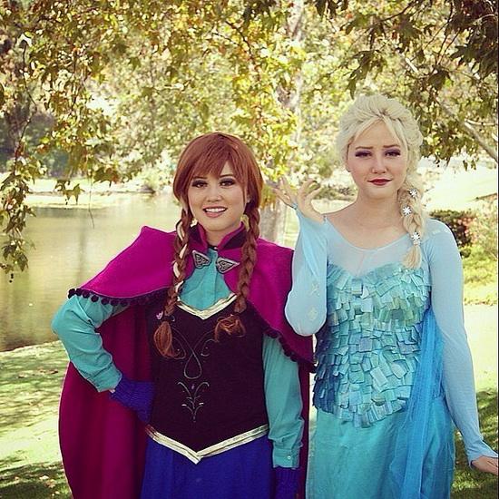 Elsa et Anna - une idée costume pour Halloween pour fille