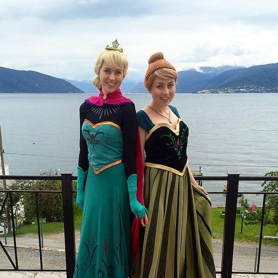 Anna et Elsa - déguisement Halloween pour fille