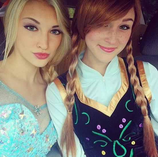 Anna et Elsa Halloween