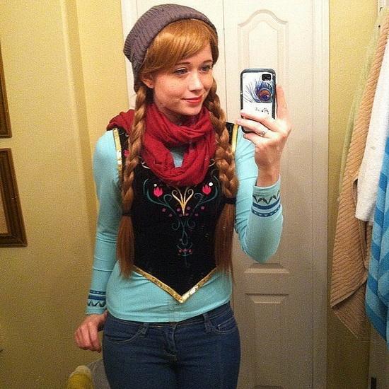 Facile déguisement pour Halloween Anna