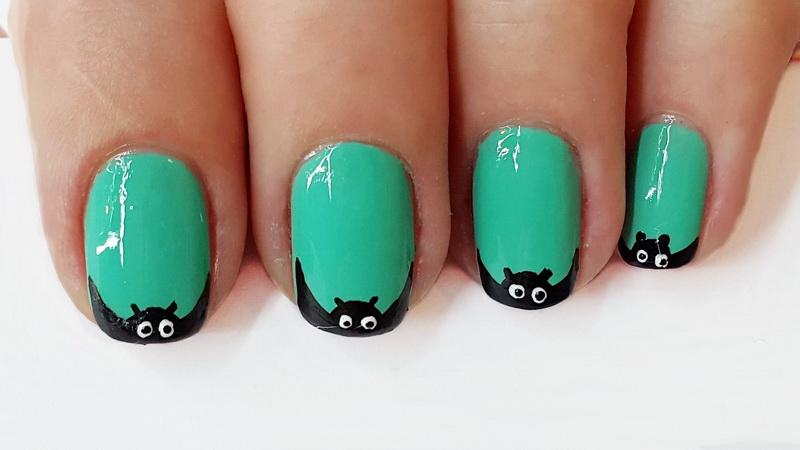 Nail Design - Bat