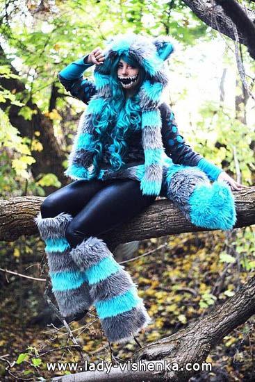 Le chat du cheshire d'Halloween pour les filles