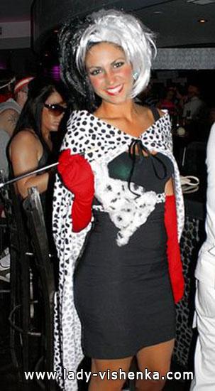 Cruella déguisement Halloween pour fille