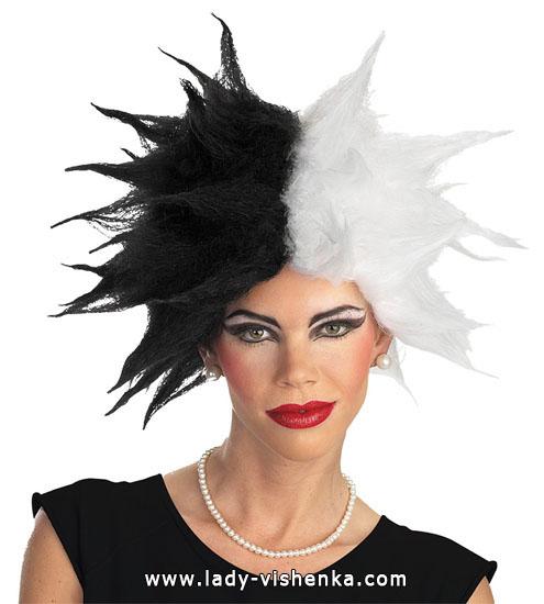 Perruque Cruella pour Halloween