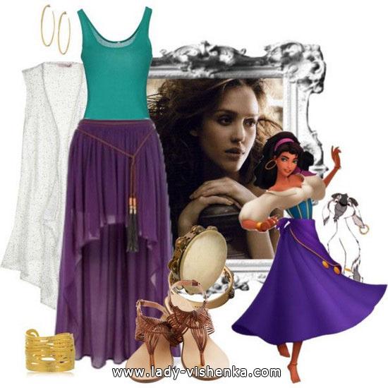 déguisement esmeralda disney
