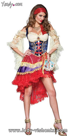 Esmeralda - costume court à l'Halloween