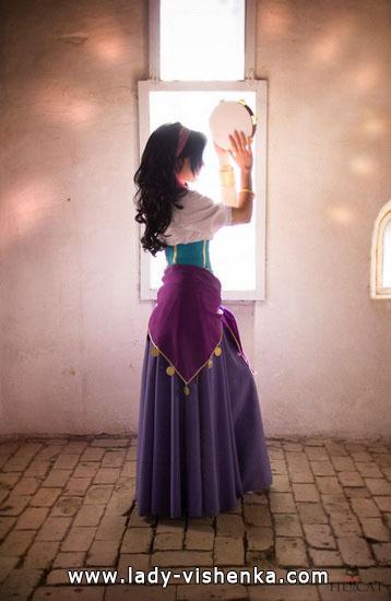 jupe gitane Halloween - Esmeralda