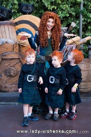 L'image Merida pour Halloween pour les filles