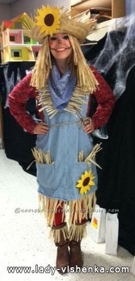Un simple costume pour Halloween - épouvantail
