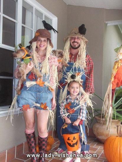 Idées costumes pour Halloween - épouvantail