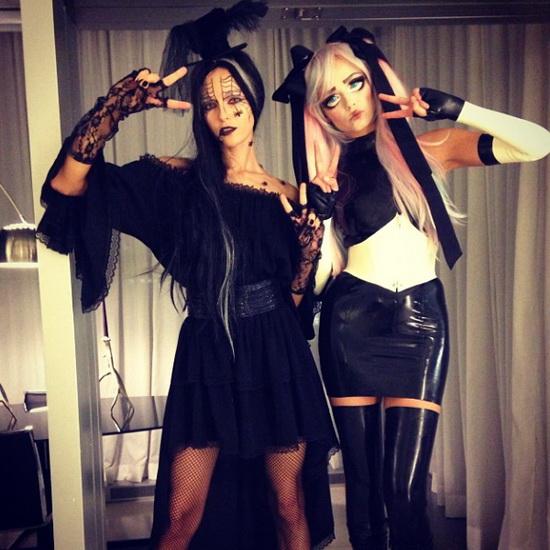 Modèle Natasha Poly et Valentina Zelyaeva Halloween