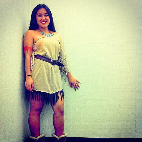 Pocahontas robe sur Halloween - photo