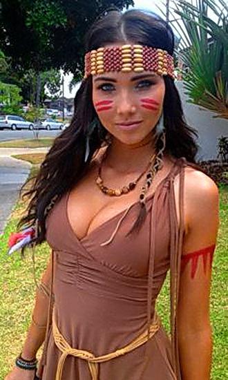 Costume Pocahontas pour Halloween