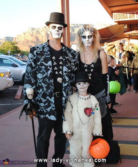 Squelettes sur Halloween pour toute la famille