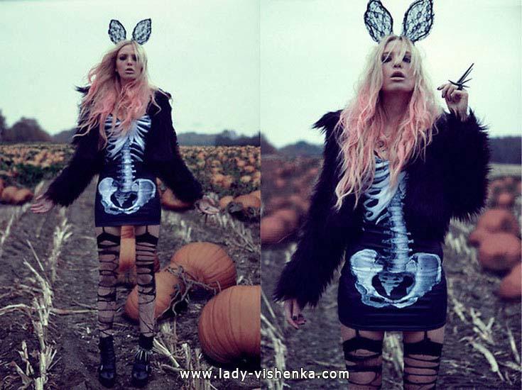 Costume de squelette pour Halloween pour les filles