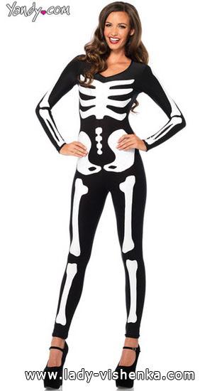 deguisement femme squelette