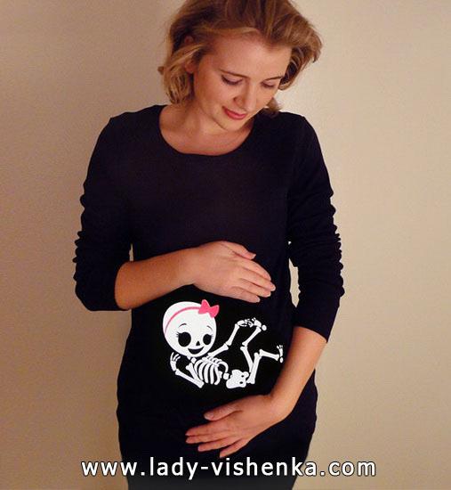 Costume de squelette pour Halloween pour les femmes enceintes