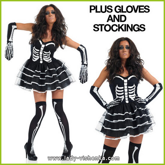 Robe courte - Skeleton Halloween