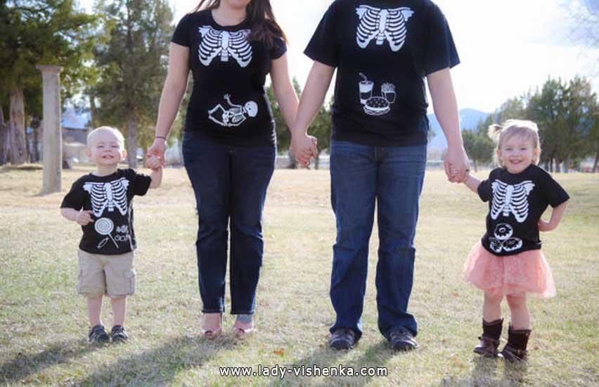 squelette déguisement Halloween pour toute la famille