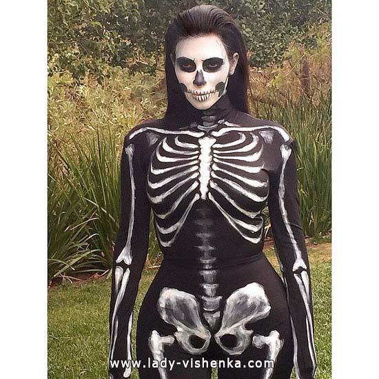 combinaison squelette femme