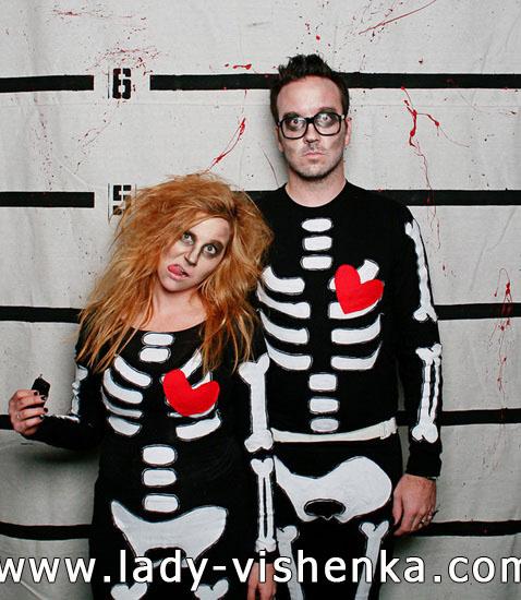 Costume de squelette pour garçon et femme