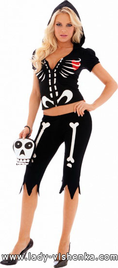 Costume de squelette pour Halloween pour fille - photo