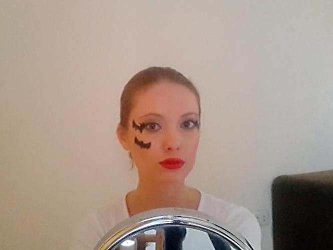 Maquillage léger pour Halloween - Chauve-souris