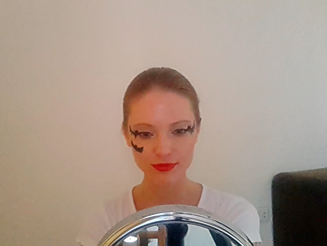Maquillage Halloween - Chauve-souris