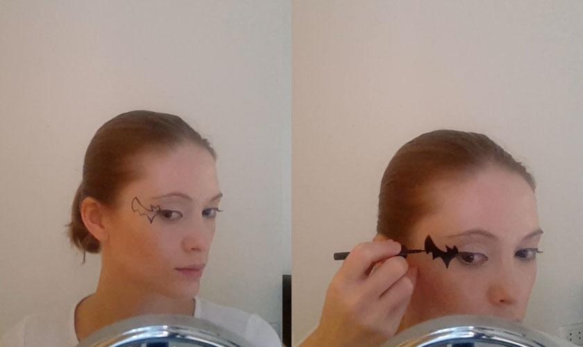 Maquillage pour Halloween pour les filles