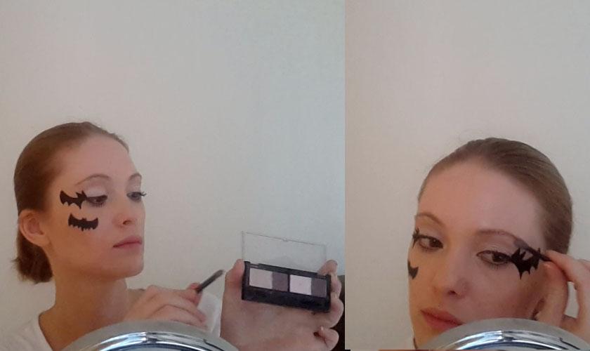 chauve-souris Maquillage pour Halloween - Étape 8