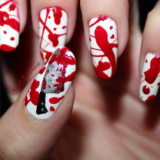 23. Manucure d'Halloween