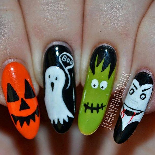 2. Manucure d'Halloween