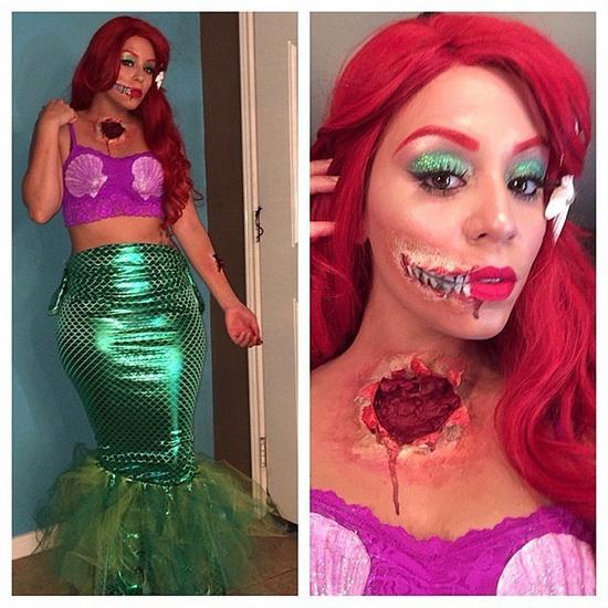 Les zombies Ariel Halloween