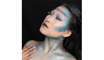 Maquillage de sirène pour Halloween