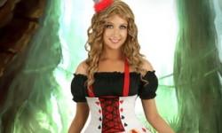 Reine de Coeur Halloween pour fille