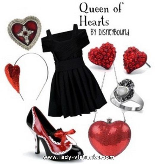 deguisement reine de coeur fille