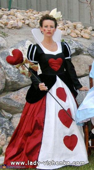 Reine de Coeur - déguisement Halloween fait maison