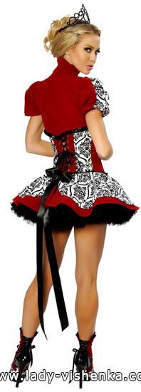 Robe courte très Reine de Coeur Halloween