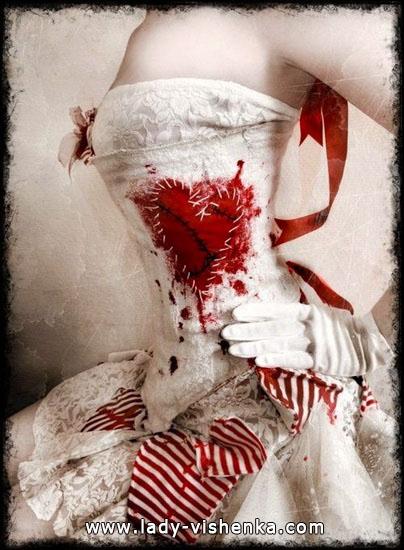 Robe originale de la reine des coeurs Halloween