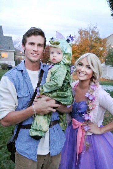 Photo Raiponce et Flynn Halloween