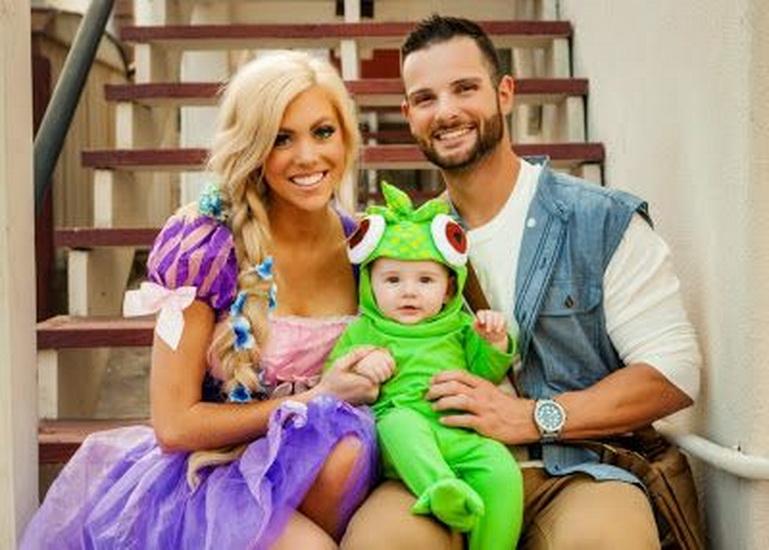 Court Rapunzel déguisement pour Halloween
