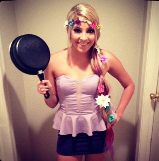 Juste Rapunzel déguisement pour Halloween