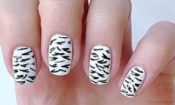 Manucure animaux - Zebra